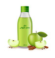 apple juice realistic product package vector image