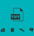 tiff file icon flat vector image