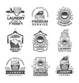 labels or logos for laundry service vector image