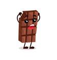 cute funny chocolate bar cartoon character vector image