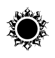 abstract isolated black sun vector image