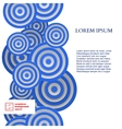 Abstract Seamless Circles Pattern vector image vector image
