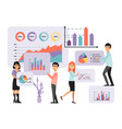 analytic concept information collection data vector image vector image