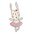 ballerina bunny vector image vector image