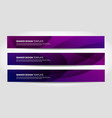 banners with abstract geometric purple and vector image vector image