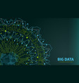 big data visualization futuristic infographic vector image