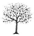 black tree with circles vector image vector image