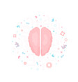 brain with decoration vector image