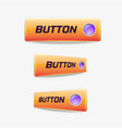 button web elements vector image vector image