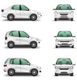 Cars side and front view vector image