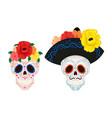 cartoon mexican sugar skull for day vector image vector image
