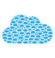 cloud collage of lotus flower icons vector image vector image