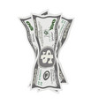 crumpled dollar bills on vector image vector image