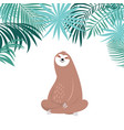 cute sloth sitting vector image vector image