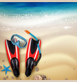 diving accessories realistic vector image