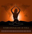 for international day yoga vector image