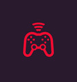 gamepad wireless game controller icon vector image vector image