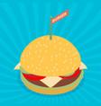 hamburger isometric flat design vector image vector image