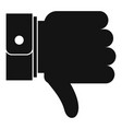 hand sediment icon simple black style vector image vector image