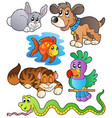 happy pets collection 1 vector image vector image
