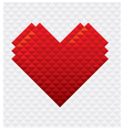 Heart Shape Mosaic Style vector image vector image