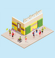 inclusive education isometric composition vector image vector image