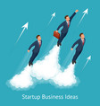 isometric startup business innovation vector image vector image