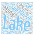 Lake Constance Holiday On The Bodensee text vector image vector image