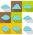 light cloud icon set flat style vector image vector image