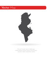map tunisia isolated black vector image vector image