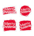 merry christmas text lettering design vector image vector image