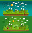 natural landscape in the flat style a beautiful vector image vector image