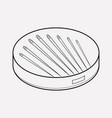 needle set icon line element vector image
