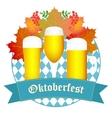 Oktoberfest design autumn Oktoberfest blue vector image