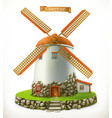 old mill 3d icon vector image vector image
