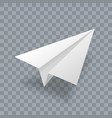 paper plane realistic 3d model white paper vector image vector image