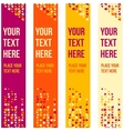 Patterned banner background with small spots vector image vector image