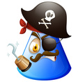 Pirate face on cone vector image vector image