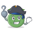 pirate guava character cartoon style vector image vector image