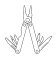 Pocket multitool Contour vector image