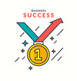poster business success modern flat graphics vector image vector image