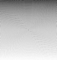 radial dotted halftone background vector image