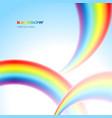 rainbows background vector image