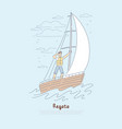 regatta yachting competition young sailor vector image vector image