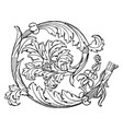 roman ornament is a richly decorated marble vector image vector image