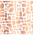 rose gold foil abstract shapes seamless vector image vector image