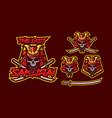 samurai mascot logo design vector image vector image