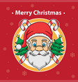 santa claus and merry christmas vector image vector image