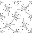 Seamless background-burning christmas sparkler vector image vector image
