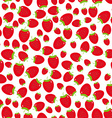 Seamless pattern with strawberries on the white